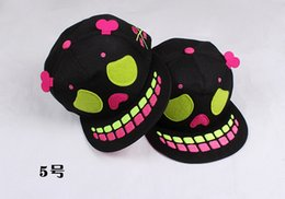 Wholesale Hip Hop Movement - Human skeleton hat men's and women's hip-hop hat dance flat skull tide hat cap baseball caps spring summer hot gifts movement