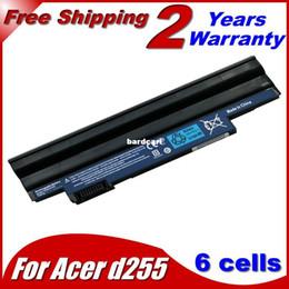 Wholesale Aspire One 722 - Free shipping- 11.1V 4400mAh black Laptop battery for Acer Aspire One 522 722 D255 D260 D270 E100 AOD255 AOD260 AL10A31 AL10B31 AL10G31