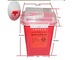 Wholesale Sharps Tattoo - Professional Plastic Sharps Containers for Tattoo Artists Newest Tattoo Sharps Container Biohazard Needle Disposal FREE