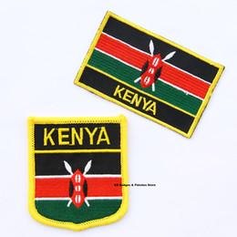 garniture à motif applique Promotion Drapeau du Kenya avec fer à broder sur patch 2pcs par set