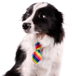 Wholesale Dog Tie Pet - 30 colors Free Shipping Factory price New Pet Elastic Neckties Tie Bow Pet Tie Dog Pet Clothes Cat Dog Ties BOWS Dog Apparel