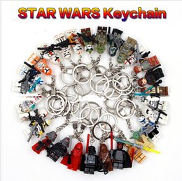 Wholesale Trendy Customized Wholesale - Hot 2016 Star War Handmade Minifigures Key Chain Key Ring DIY Star Wars Customize Keychains Children Building Blocks Toys Gift Christmas Toy