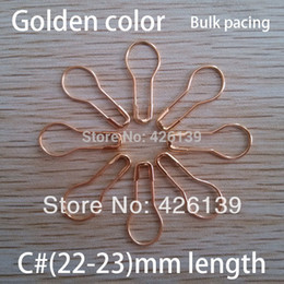 Wholesale Wholesale Safety Pins - Wholesale-free shipping 1000pcs lot C# 22mm length metal pear shaped gold safety pins steel brooch pin 4 colors for choose