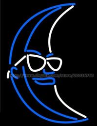 enseignes au néon de bière de lune bleue Promotion Bleu Blanc Lumière Up Moon Beer Signe Au Néon Verre Verre Tube Bar Disco KTV Club Store Affichage Publicité Logo Enseignes Au Néon 14