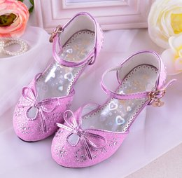 Wholesale White High Heel Sandals 12 - new spring and autumn fashion Female child sandals princess sandals children high-heeled shoes little girl sandals