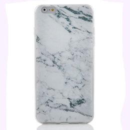 Wholesale Rubber Backed Material - White Soft Slim Silicone Granite Marble Grain Texture Rubber Material Gel TPU Back Case Cover for iPhone 6 6S 6 Plus