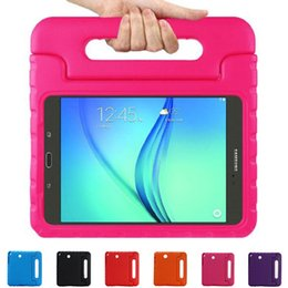 Wholesale Tab Casing - Tablet PC Case For Samsung Galaxy Tab A 9.7 inch T550 T555C Candy Colors EVA Safe Kids Durable Shockproof Handle With Stand