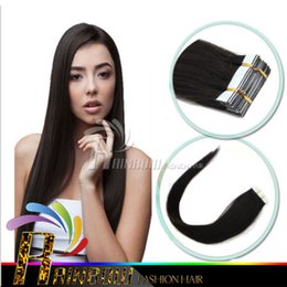 "Wholesale Discount Tape Hair Extensions - 24# 18""-28"" Dark Blonde Pu Skin Weft Tape Hair Extensions 40pcs pack Cheaper Indian Remy Hot Fashion Euro Girl Hair Discount !"