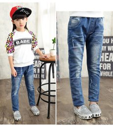 Wholesale Han Clothing Wholesale Jeans - Children's clothes 2015 hot style Fall girl's jeans Children's pants Han edition cotton play big panty Children's pants wholesale BH1238
