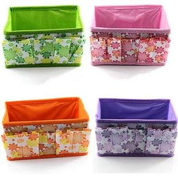 Wholesale Top Weave Sellers - Bling Recommend Free Shipping Top Seller Flowers Woven Cosmetic Storage Box Multicolor Gift For Family 18*10*10cm TY185