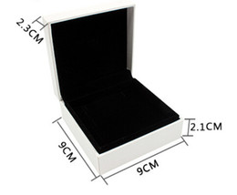 Wholesale Leather Gift Boxes Wholesale - 8 pc lot Velvet black bracelet Boxes fits for pandora jewelry European Style Jewelry Gift Display Cases 9*9*4 cm wholesale DIY Jewelry Boxes