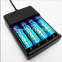 Wholesale Aa Batteries Alkaline - KENTLI 4pcs 1.5v 2800mWh Li-polymer li-ion polymer lithium rechargeable AA battery + 4 slots USB smart Charger