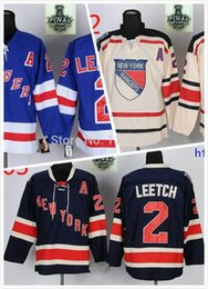 Wholesale Brian Leetch Jersey - 2015 new york rangers jersey #2 Brian Leetch Blue Jerseys A Patch 2014 NHL Stanley Cup Final ny rangers hockey jersey