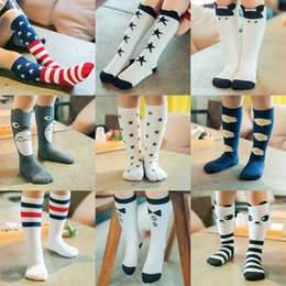 Wholesale child girl knee high socks - Kids Knee High Stockings Baby Boy Girls Stockings 100% Cotton Children Socks Cartoon Animal Warm Cotton Autumn Socks