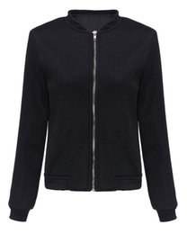 Wholesale Women S Short Coats - Women Small Hollow Jacket 2016 New Spring Autumn Short Cropped Basic Jacket Fashion Mesh Zipper Coat Solid Color Outerwear S-XL