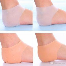 Wholesale Care Socks - Feet Care Socks Silicone Moisturizing Gel Heel Socks with hole Cracked Foot Skin Care Protectors 125Pairs