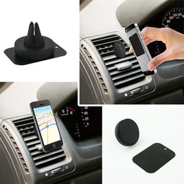 Wholesale Outlet For Car - Magnets Bracket Universal Magnetic Car Air Vent Holder Outlet Mount For iPhone Samsung Cell Phone Mounts Holders DHL Free