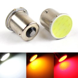 Wholesale Led Trunk - 12 SMD LED COB Chips 1156 BA15s Car Auto Trunk Rear Turn Signal Lights Parking Bulb Lamp DC12V Yellow Red White
