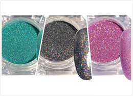 Wholesale Thin Laser - 1.5g Holographic Laser Nail Glitter Powder Ultra-thin Shining Pink Blue Grey Glitters Manicure Used With UV Gel Polish