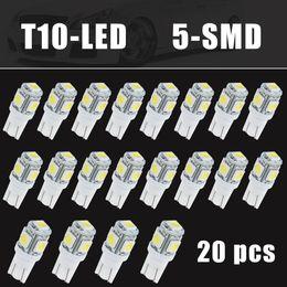 Wholesale 158 Led - Auto 20xT10 Side Wedge 5-SMD 5050 LED Light Bulb 2825 501 192 158 W5W 194 168 Super White CLT_0B9
