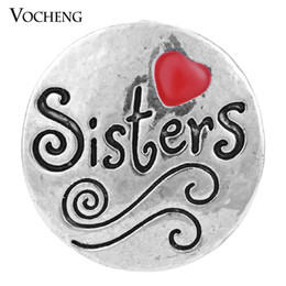 Wholesale Metal Alloy Clasp - VOCHENG NOOSA Snap Jewelry 18mm DIY Metal Button Charm Vn-986