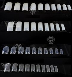 Wholesale acrylic nail art products - Wholesale-New Products NT6 Sale! 500 PCS Natural False Acrylic UV Gel French transparent Nail Art Tips
