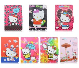 Wholesale Asus Tablet Screen - Universal Adjustable Cartoon Hello Kitty Flip PU Leather Stand Case Cover For 7 inch Tablet MID Samsung Tab 2 3 4 P3200 T230 ACER ASUS