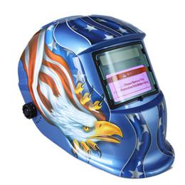 Wholesale Order Welding Helmet - Welding & Soldering Supplies Solar Auto Darkening Welding Helmet Professional Welding Mask Arc Tig Mig Grinding Eagle Black order<$18no trac
