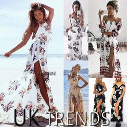 Wholesale Casual Holiday Dresses For Women - Dress Womens Holiday Sleeveless Ladies Maxi Long Summer Print Beach Dress Size 6-14 Swimwear for women