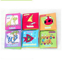 Wholesale Printed Picture Book - New Toddler Kids Intelligence Development Soft Cloth Baby Cognize Book Learn Picture Cute Cartoon Printing Mulit Pictures Languages Books