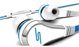 Wholesale Sms Audio Wired Mic - Excellent Mini 50 cent with mic and mute button SMS Audio 50 cent In-Ear headphones earphone STREET by 50 Cent high quality cheap&fine ONE