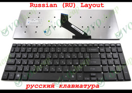 Wholesale Notebook Layouts - New Notebook Laptop keyboard For Gateway NV55 NV57, compatible for Acer Aspire 5830 5830T 5830TG 5755 5755G Black Russian RU Layout