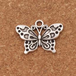 jóias de pavão antigo Desconto Pavão Branco Anartia Jatrophoe Borboleta Charme Beads 100 pçs / lote 24.8x19.1mm Antique Prata Pingentes de Jóias DIY L1128