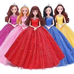 2019 giocattoli all'ingrosso delle bambine Kawaii 30cm Bambole per bambine Giocattoli con abiti da sposa per bambini Regalo in plastica Mini Fashion Dolly Moveable 12 articolazioni multicolore