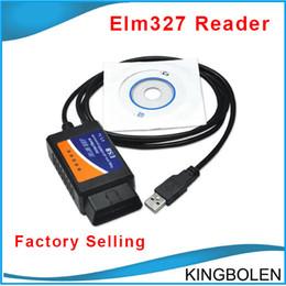 Wholesale Elm327 Obdii Usb Diagnostic Scanner - DHL Free Shipping ELM327 USB OBDII Auto Diagnosis scanner ELM 327 USB OBD2 Diagnostic Interface cable High Quality