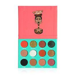 Wholesale Full Fashion Stockings - nubian High quality! Professional makeup 12 Color Fashion Women SAHARAN  Nubian Eye Shadow Palette Makeup Matte Eyeshadow Palette In Stock