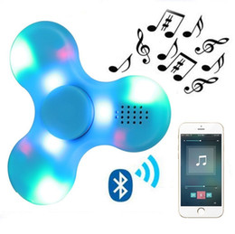 Wholesale Bluetooth Speakers For Kids - LED Bluetooth Speaker Spinner Toys Hand Toy Music Figet Spinner EDC Hand Spinner For Autism Kids Adult Funny Fidgets Toy Speakers