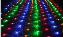 Canada 3m * 2m 200LED cordes réseau maille guirlande lumineuse lumière fête de mariage avec 8 contrôleur de fonction EU US.AU.UK Plug AC 110V-250 cheap eu function Offre