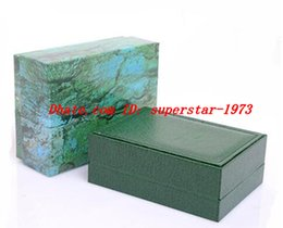 Wholesale Top Quality Mens Wallets - Top quality Luxury Mens   Womens Green Watch Box Swiss Original Watch Boxes Wooden Papers Card Wallet Boxes&Cases Wristwatch