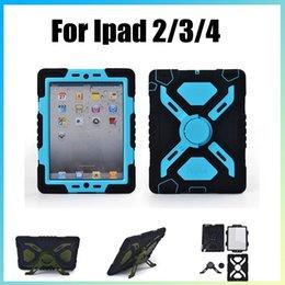 Canada Imperméable à l'eau Antichoc Antichoc Stand Case Pour iPad 2 3 4 Pepkoo Araignée Extrême Militaire Heavy Duty Armor Couverture Livraison Gratuite Offre