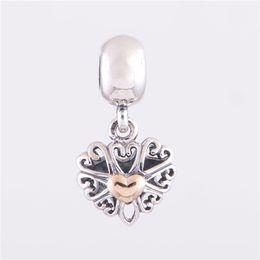 Se adapta a Pandora Charms Bracelet Authentic 925 Sterling Silver Bead 14k Gold Heart European Charm Mujeres DIY Joyería Envío gratis desde fabricantes