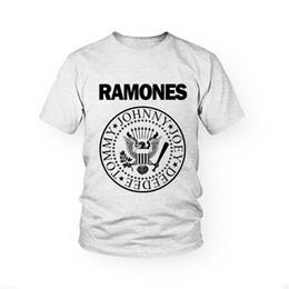 Wholesale Custom Music Shirts - Wholesale-Men Cool Custom Design Ramones T-shirt Popular Rock Hip Hop T Shirts Top Cotton Music Fashion Ramones Shirts Hot Sale