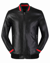 Wholesale Polyester Leather Jacket - Hot - fashion Slim tide young motorcycle baseball uniform PU jacket short section spring and autumn leather jacket Medusa - China Size
