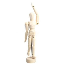 Wholesale Mannequin Male - OP-Wooden Male Artist Manikin Hand Blockhead Puppet Jointed Mannequin 5.5 Inch E1Xc