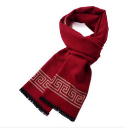 Wholesale red black plaid scarf cashmere - New Design Men Scarf Luxury Brand Scarf Men Winter Warm Cashmere Scarf New National Wind Double Sided Scarves silk Scarves. Free shipping
