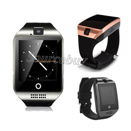 Wholesale Arc Red - Q18 Smart Watch With Camera Sim TF Card Slot Bluetooth NFC HD Arc Screen Wristband Smartwatch For IOS Android Cell phone Retail Box