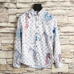 Wholesale Giraffe Sleeve - 2017 Top quality Casual Shirts tee giraffes elephants Street print ture brand High streets black white