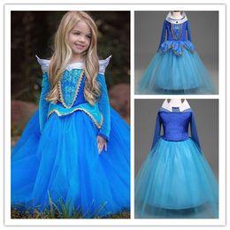 Argentina Vestido de niña de Cenicienta Mezclas de algodón para niños Vestidos de princesa de Halloween Fiesta de niños Vestidos de cosplay Rosa y azul SJJ 001 Suministro