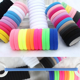 Wholesale Candy Colors Hair - SALE! Candy Colored Hair Holders High Quality Rubber Bands Hair Elastics Accessories Girl Women Tie Gum (Mix Colors) 200 PCS