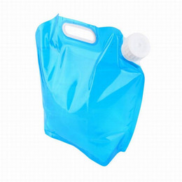 Wholesale collapsible water bottle wholesale - 5L 10L Outdoor Foldable Folding Collapsible Drinking Water Bag Car Water Carrier Container for Outdoor Camping Hiking Picnic BBQ